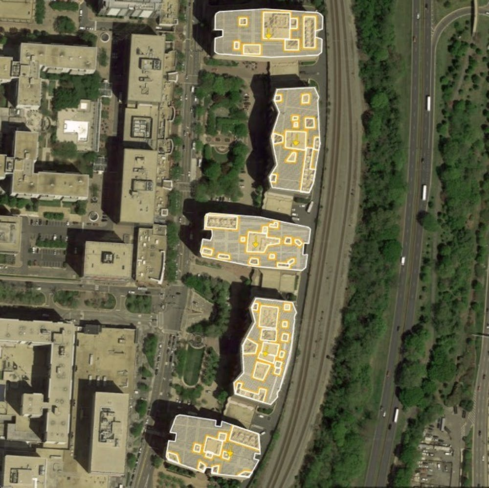 <p>As the only team in Virginia to advance to the finals, Zhu and his team have been tasked with designing a rooftop solar energy system for a five-block site in Arlington, Va.</p>