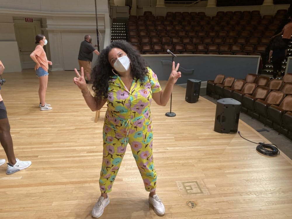 Michelle Buteau after her comedy show at Old Cabell.