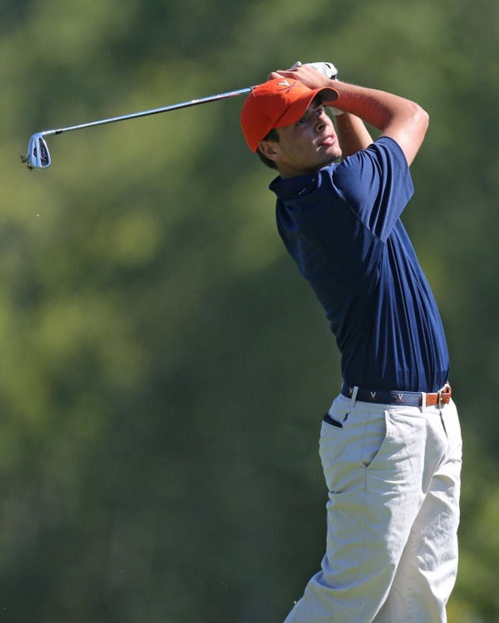 <p>Sophomore Derek Bard's 15-under 201 was the third-lowest 54-hole score in the history of Virginia men's golf. Bard also tied a program record for lowest 18-hole score in Friday's opening round, shooting 9-under 63.</p>