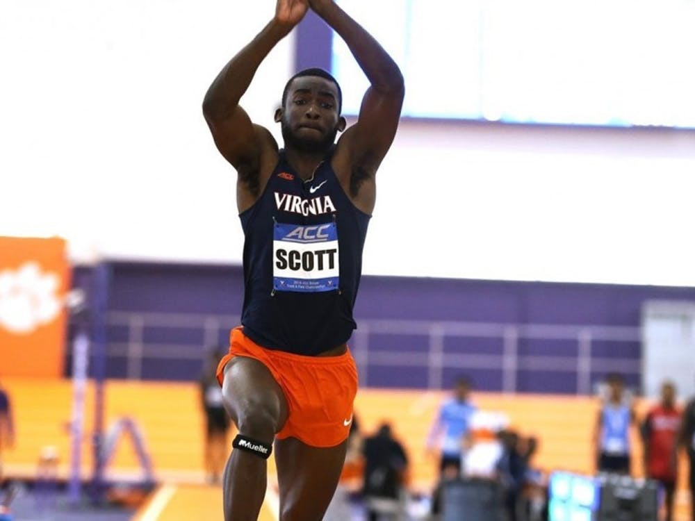 Junior Jordan Scott won the triple jump at the ACC Championships over the weekend.
