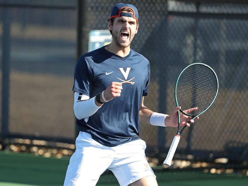 Virginia junior William Woodall teamed up with senior Carl Söderlund to earn a doubles point for the Cavaliers
