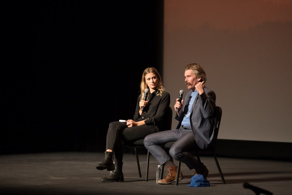 <p>Actor, director and writer Ethan Hawke spoke on Saturday at The Paramount in a conversation moderated by Elizabeth Flock of PBS NewsHour.&nbsp;</p>