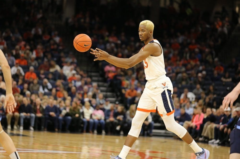 <p>Senior forward Mamadi Diakite had his third straight game with double-digit scoring, tallying 10 points and five rebounds.&nbsp;</p>