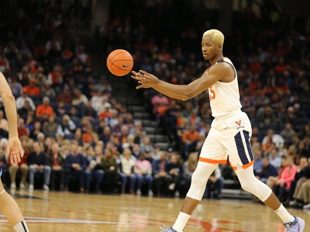 Senior forward Mamadi Diakite had his third straight game with double-digit scoring, tallying 10 points and five rebounds.
