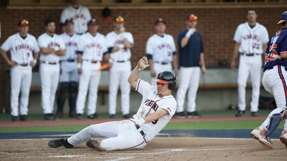 The Virginia baseball team did not win a national championship this year, but they sure were fun to watch. Pictured: Nick Howard, one of several Cavaliers set to pursue his Major League dreams.