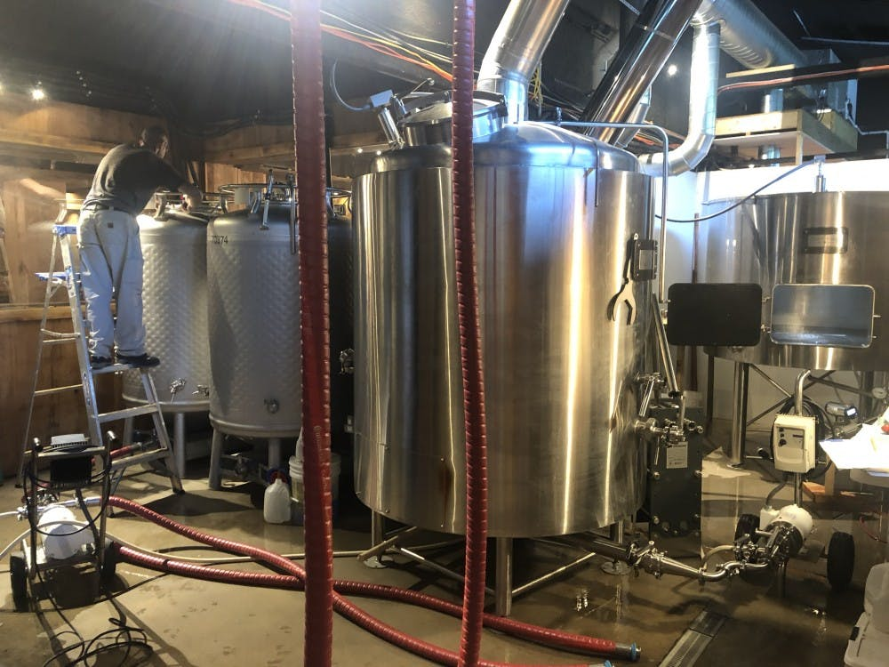 Jesse Pappas and John Bryce worked with property owners Ed and Regina Pierce to add a 10-barrel American-made brewhouse to the winery, making this winery-brewery combination the first to appear in Albemarle County.