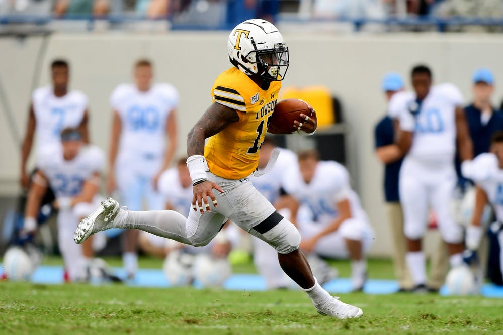 <p>Along with Texas, the Easton, PA native caught the eye of football stalwarts like Penn State and Florida State before choosing Virginia.&nbsp;</p>