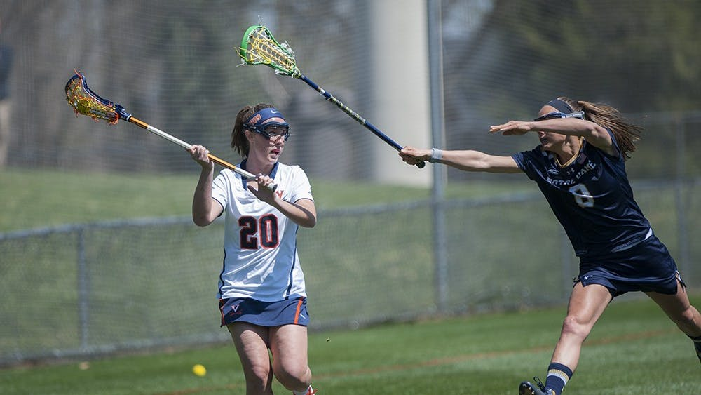 Senior attacker Casey Bocklet tormented the Hokies Friday evening, scoring a career-high six goals and adding an assist.