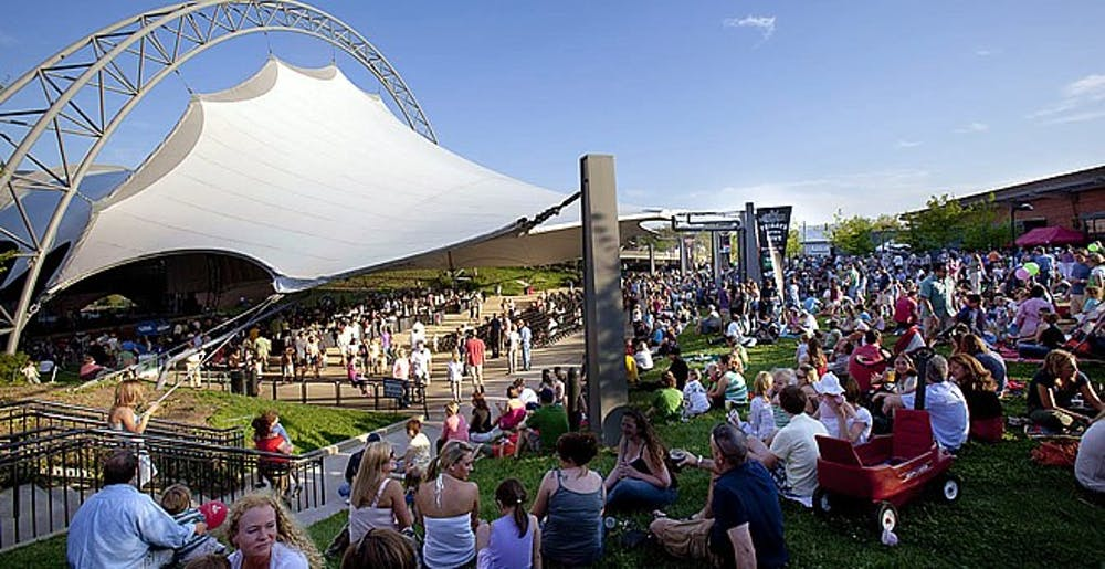 <p>The Sprint Pavilion, located on the Downtown Mall, hosts outdoor concerts through the summer and fall.</p>