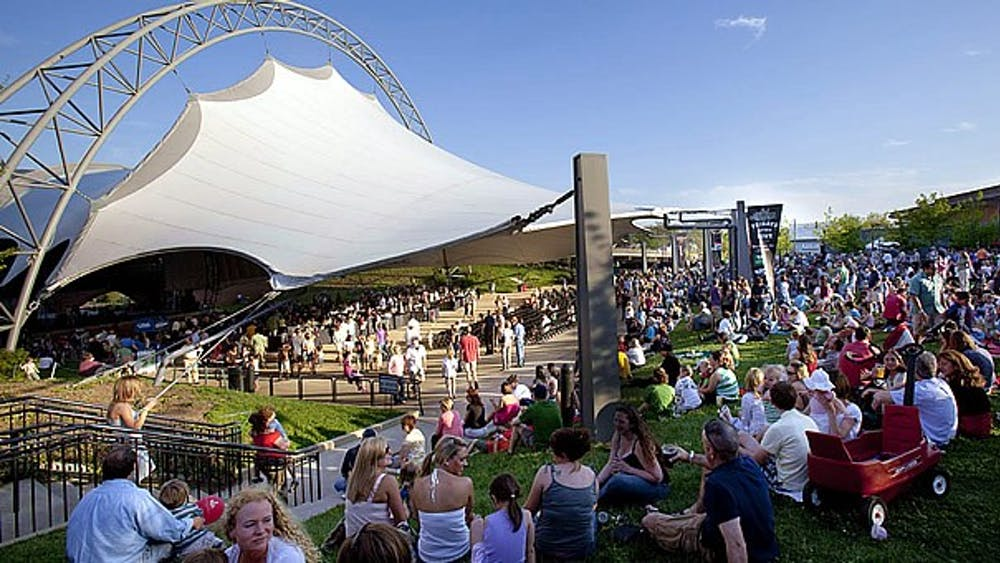 The Sprint Pavilion, located on the Downtown Mall, hosts outdoor concerts through the summer and fall.