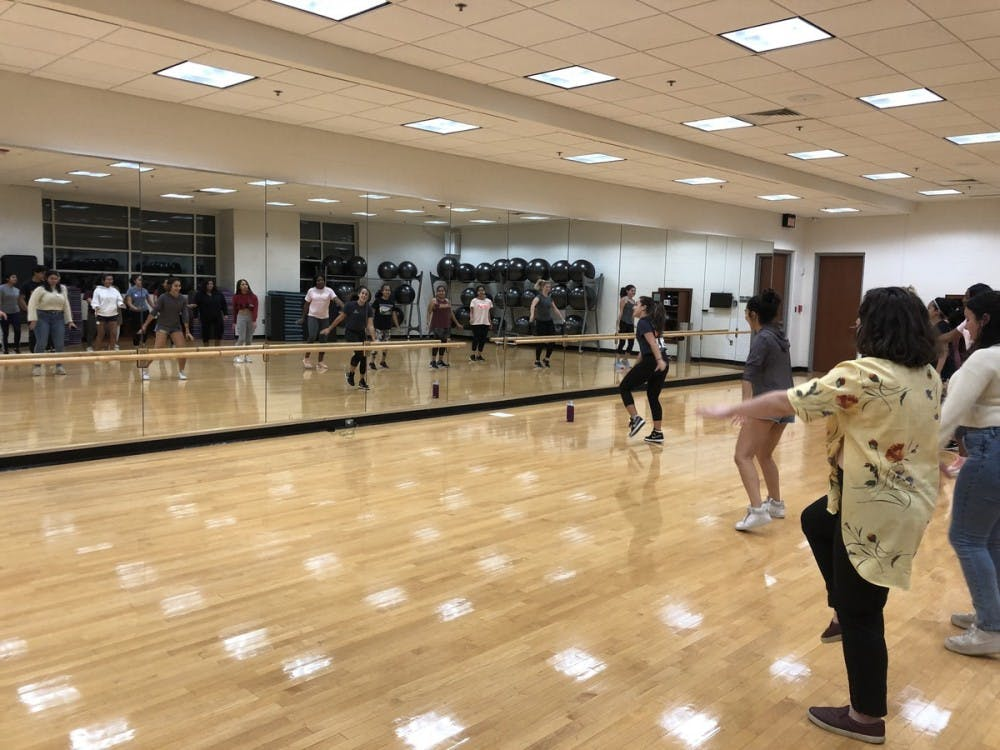 Programming included Zumba — which is a type of high-energy dance exercise — and a free salsa class taught by members of Salsa Club.