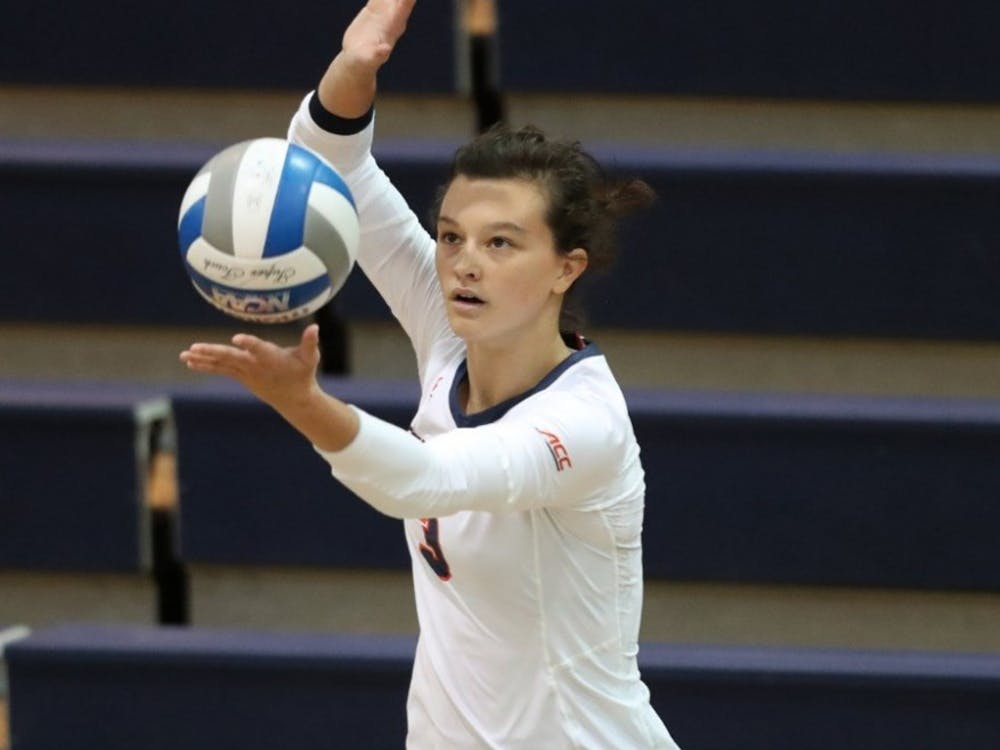 Senior libero Kelsey Miller recorded double-digit digs in every game this weekend.