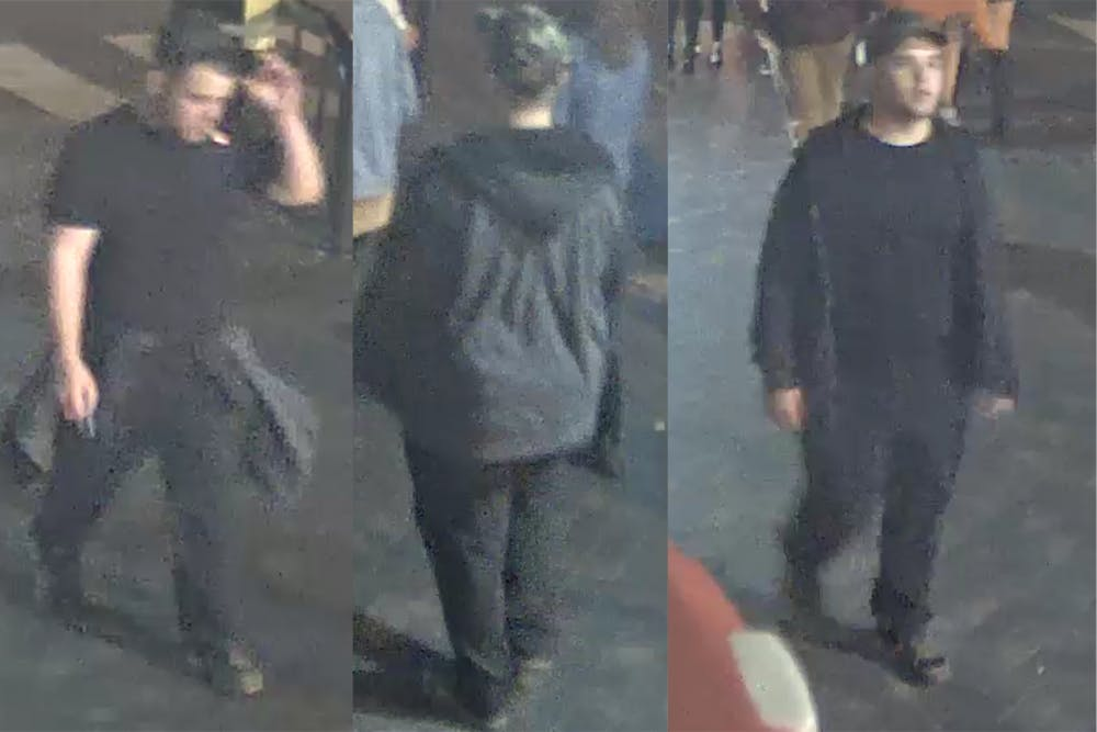 <p>Photos of the person of interest in the reported attempted abduction on Wertland Street were included in a recent release from Charlottesville Police.&nbsp;</p>
