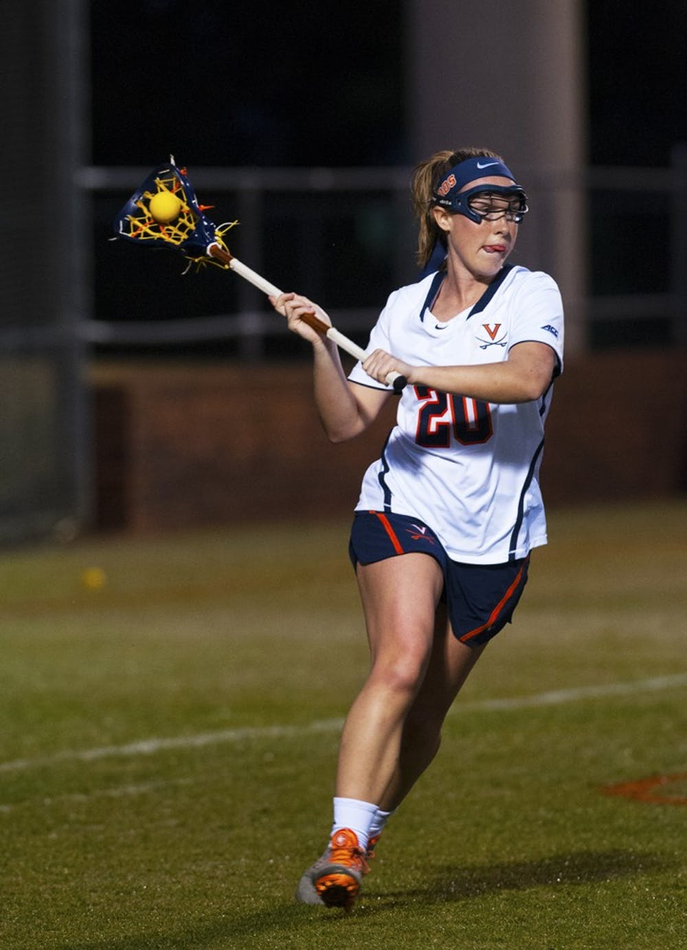 <p>Senior attacker Casey Bocklet and the No. 5 Virginia women's lacrosse team battle No. 2 Boston College Saturday in Newton, Massachusetts. </p>