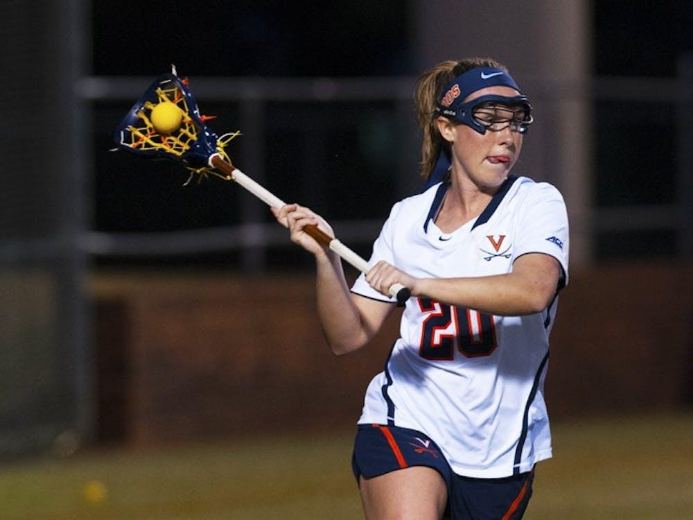 Senior attacker Casey Bocklet and the No. 5 Virginia women's lacrosse team battle No. 2 Boston College Saturday in Newton, Massachusetts.