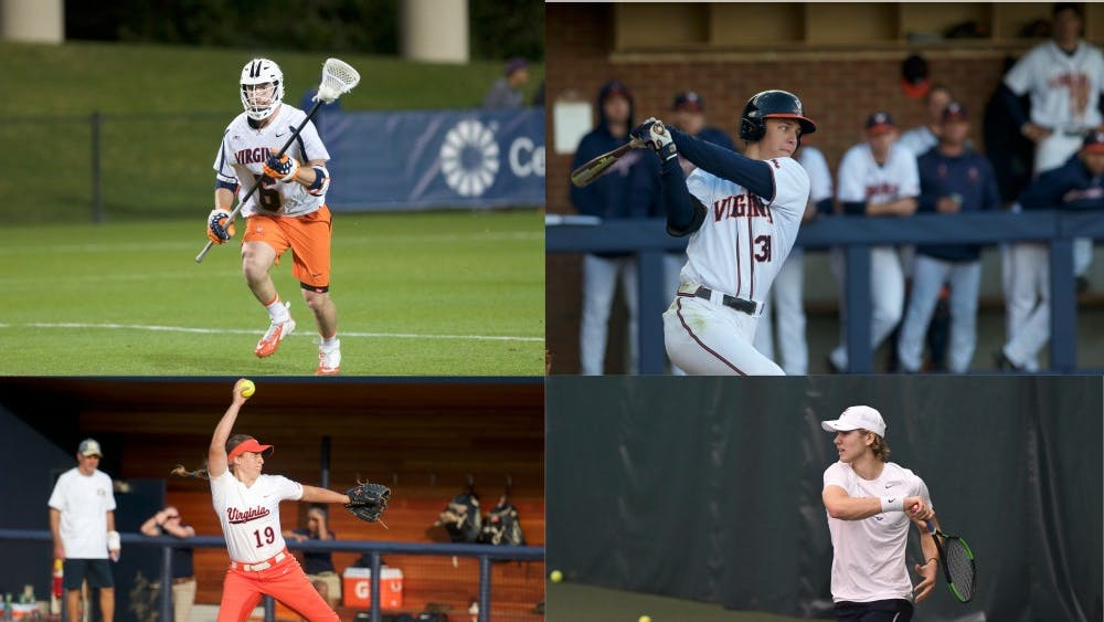 Dox Aitken (top left), Jake McCarthy (top right), Allison Davis (bottom left) and Carl Söderlund (bottom right) all look to lead their respective teams to success this spring.