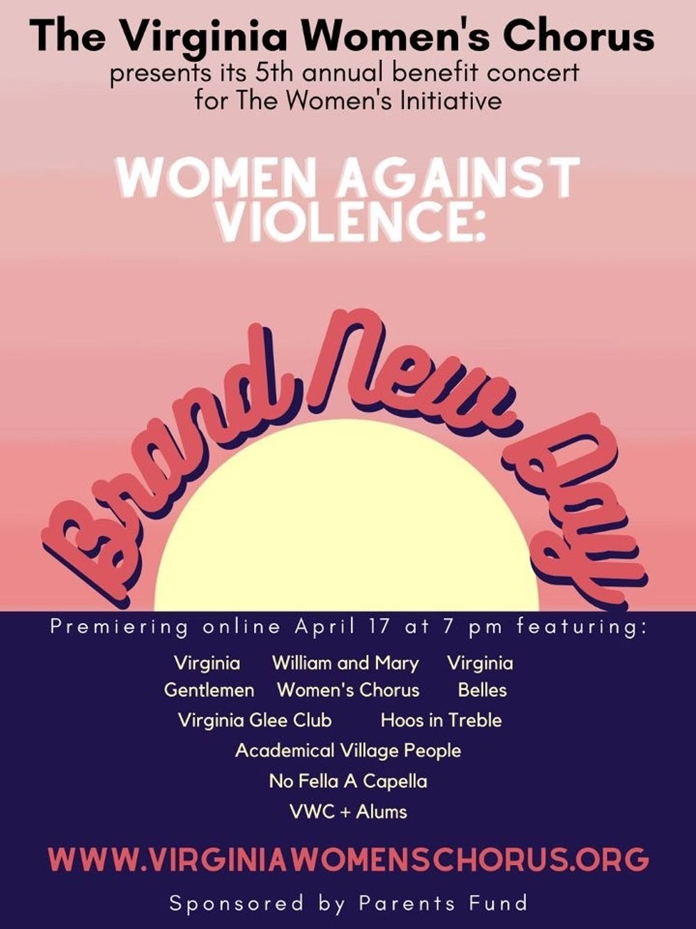 <p>Viewers of the Brand New Day Benefit Concert joined the Virginia Women's Chorus in raising awareness for sexual assault through uplifting music, donating to the Women's Initiative and more</p>