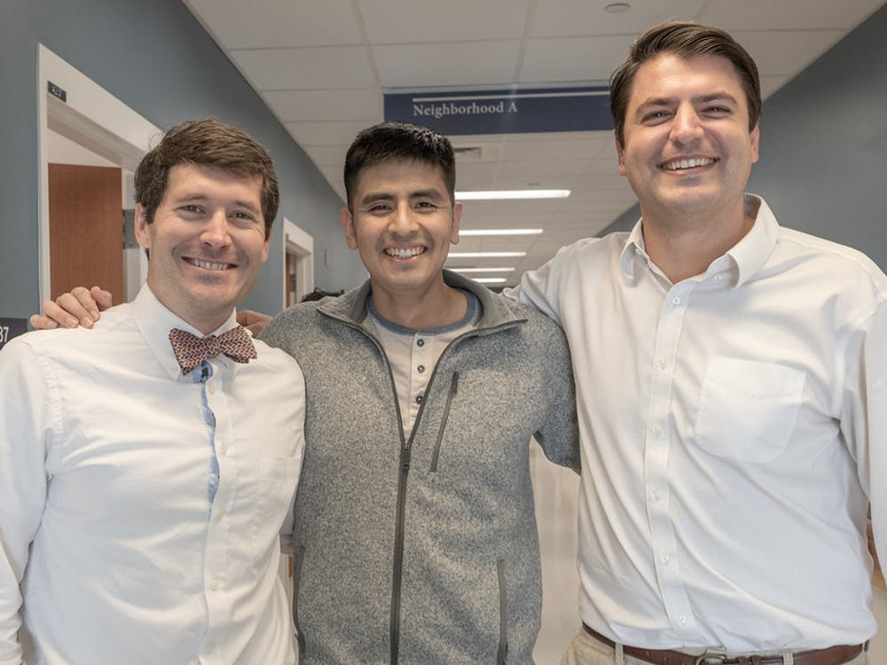 Andrew Southerland, NeuroView scientific advisory board member, and founders Omar Uribe and Mark McDonald are shown left to right.