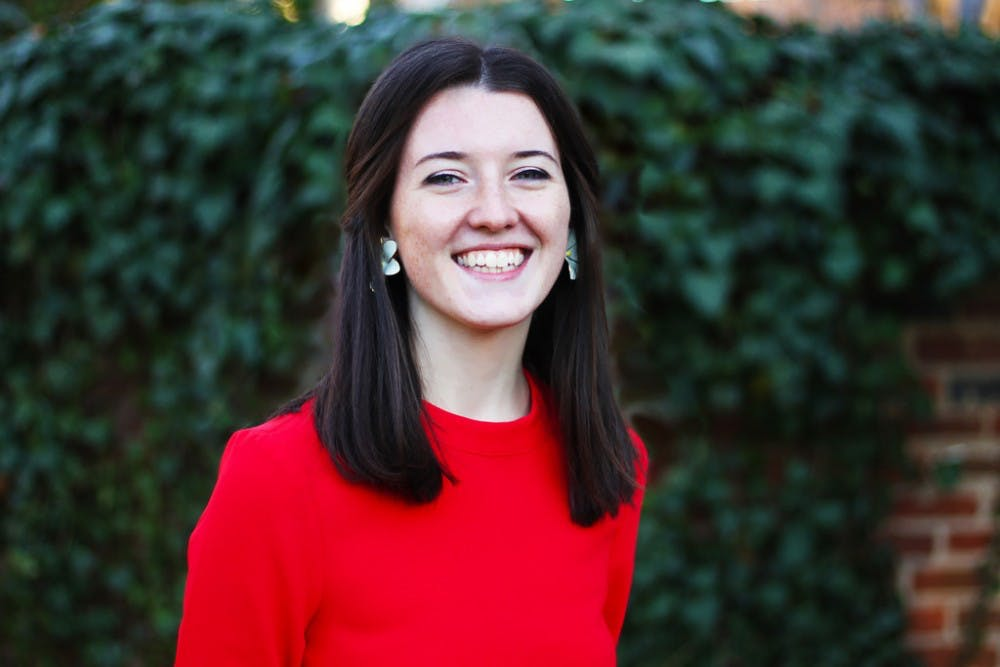 <p>Third-year College student Sydney Bradley won ___ percent of the University-wide vote for student council vice president of administration.</p>