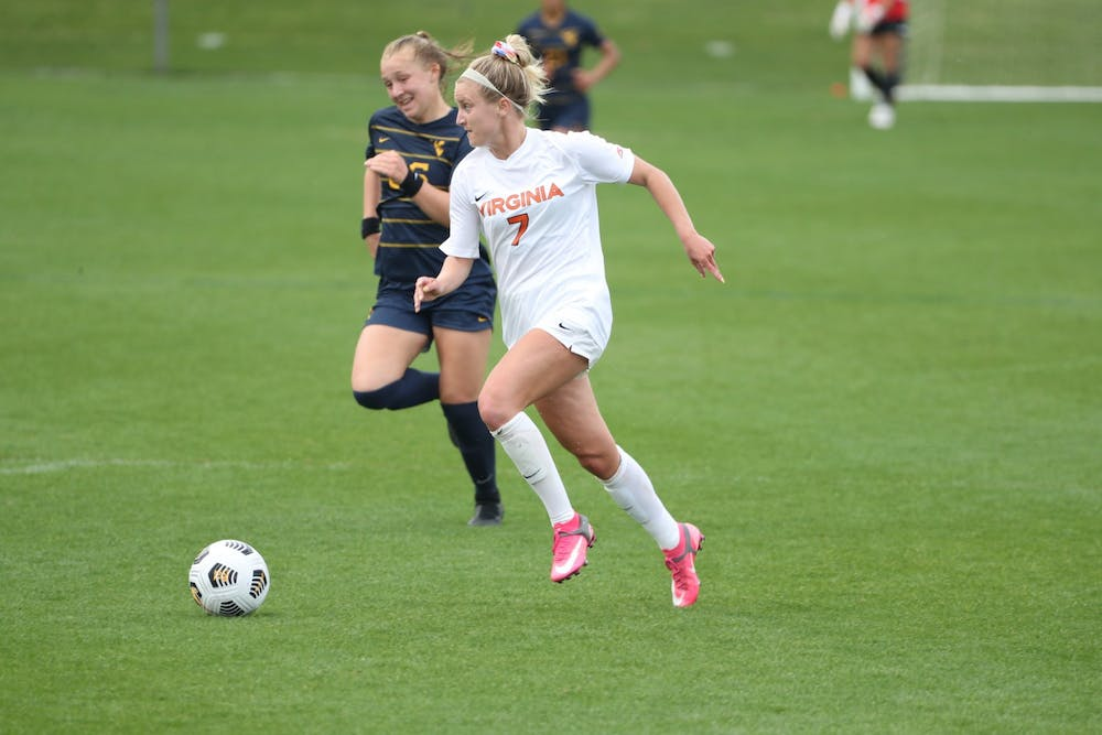 <p>Junior forward Alexa Spaanstra had two goals for the Cavaliers.&nbsp;</p>