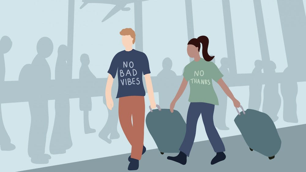 Next time you find yourself getting dressed to leave for the airport, I urge you to consider embracing a slogan t-shirt — they just might make someone awkwardly laugh or warmly relate.