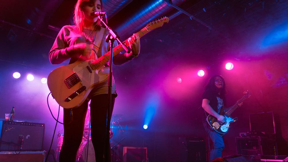 Bethany Cosentino of Best Coast performs in Glasgow.