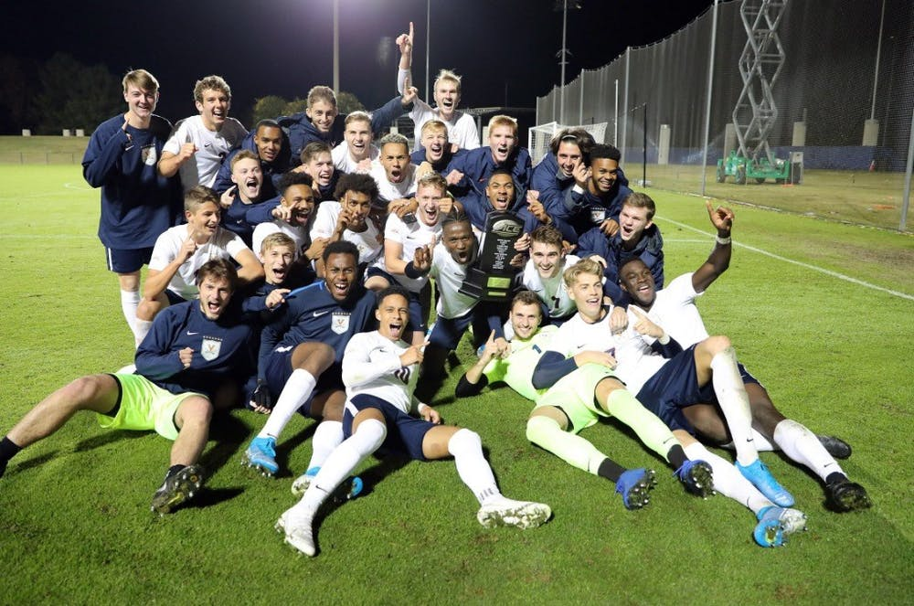 <p>Virginia men's soccer hopes to lift more trophies this season after already topping the ACC Coastal.</p>