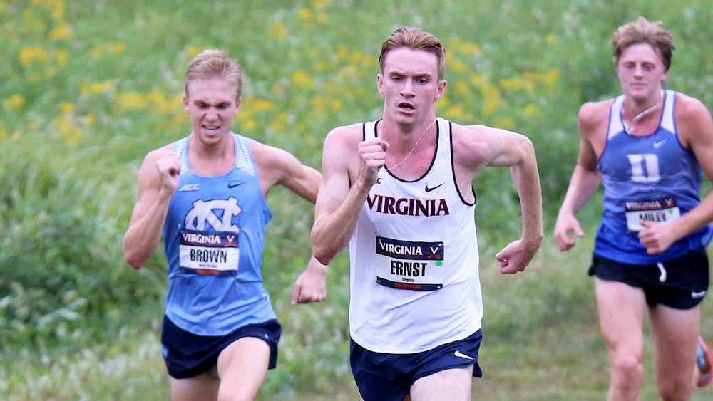 Senior AJ Ernst finished first among all Virginia runners at the NCAA Southeast Regionals.