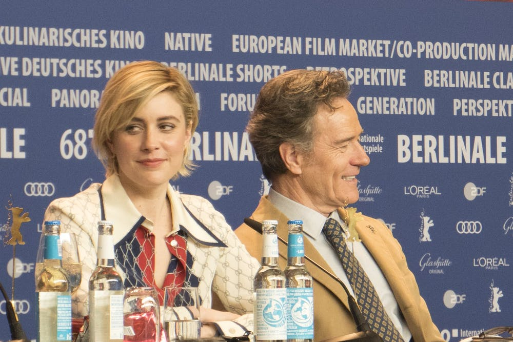 greta-gerwig-and-bryan-cranston-isle-of-dogs-press-conference