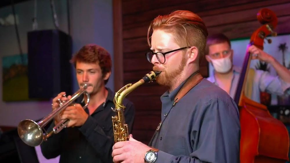 Jack Sheehan, a saxophonist, educator and composer, performed for The Front Porch's Save the Music series on Wednesday.