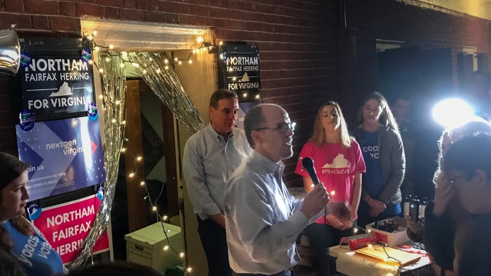 Perez and Warner visited Grounds Sunday evening in an effort to encourage students to vote for Democrats.