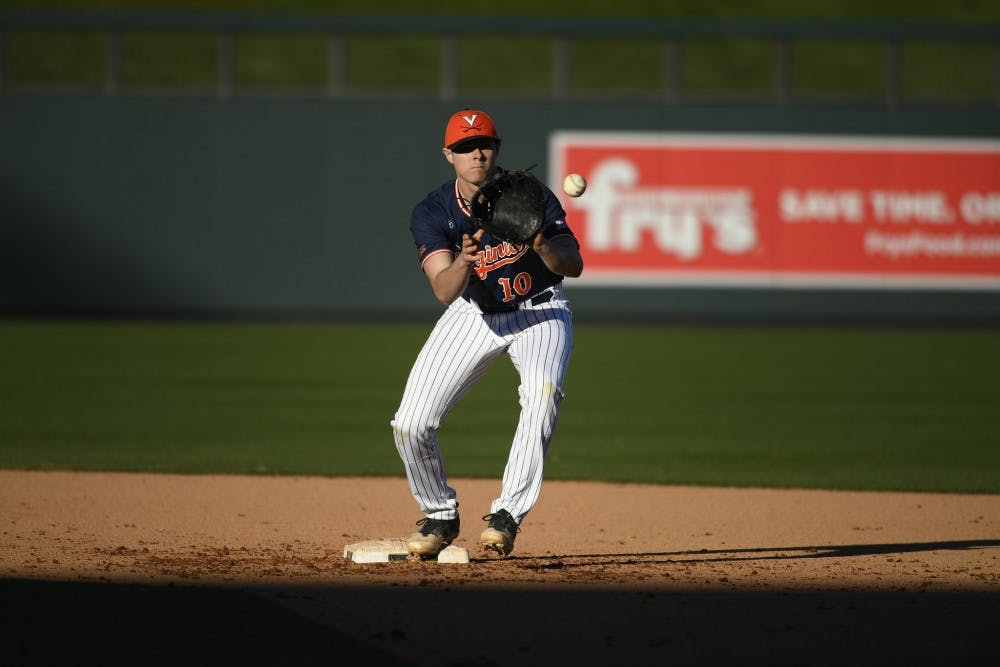 Sophomore shortstop Tanner Morris hit one of Virginia's four home runs in the second game of the doubleheader Saturday.