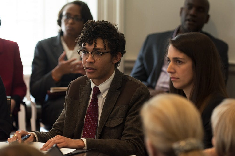 <p>Devin Rossin and Phoebe Willis presented the findings of the Honor Audit Commission report.</p>