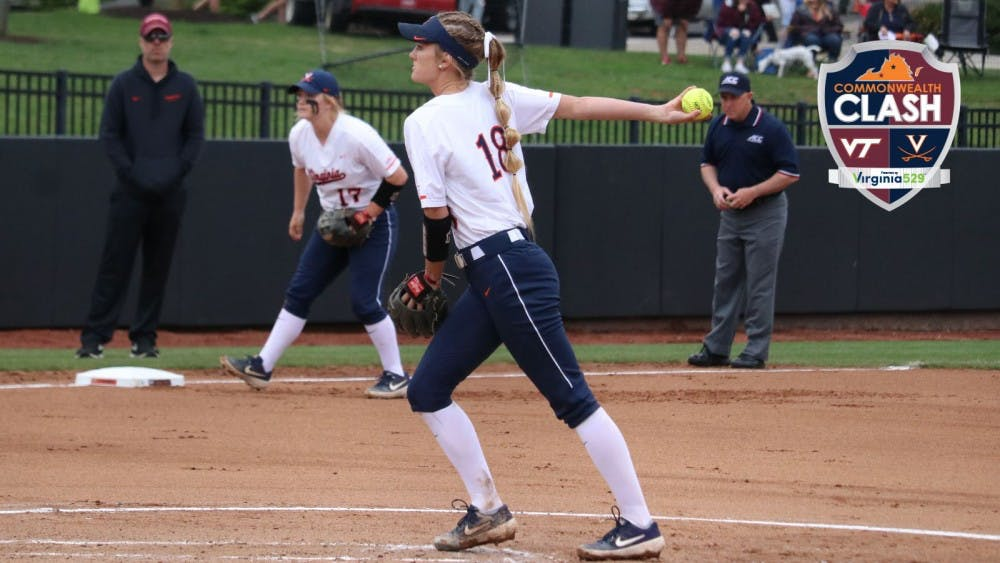 <p>Freshman pitcher Aly Rayle started two of Virginia's three games against Virginia Tech.</p>