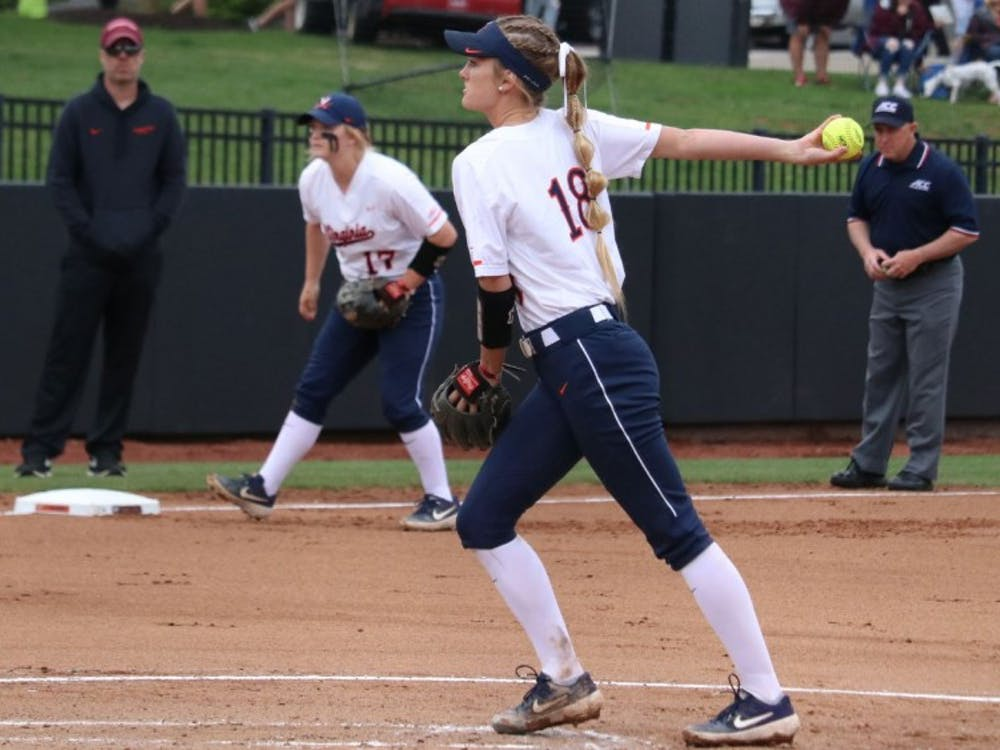 Freshman pitcher Aly Rayle started two of Virginia's three games against Virginia Tech.