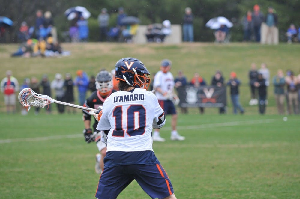 <p>Senior attacker Mike D'Amario had four goals in Virginia's win over North Carolina on Saturday.&nbsp;</p>