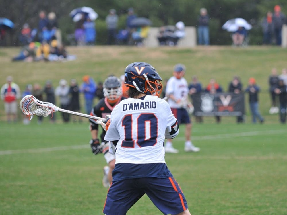 Senior attacker Mike D'Amario had four goals in Virginia's win over North Carolina on Saturday.