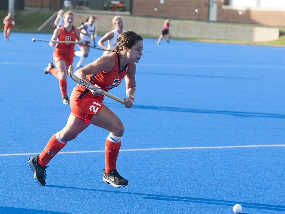 Sophomore striker Riley Tata scored Virginia's first goal Sunday against No. 7 Princeton and, along with sophomore striker Caleigh Foust, leads the Cavaliers with four on the season.