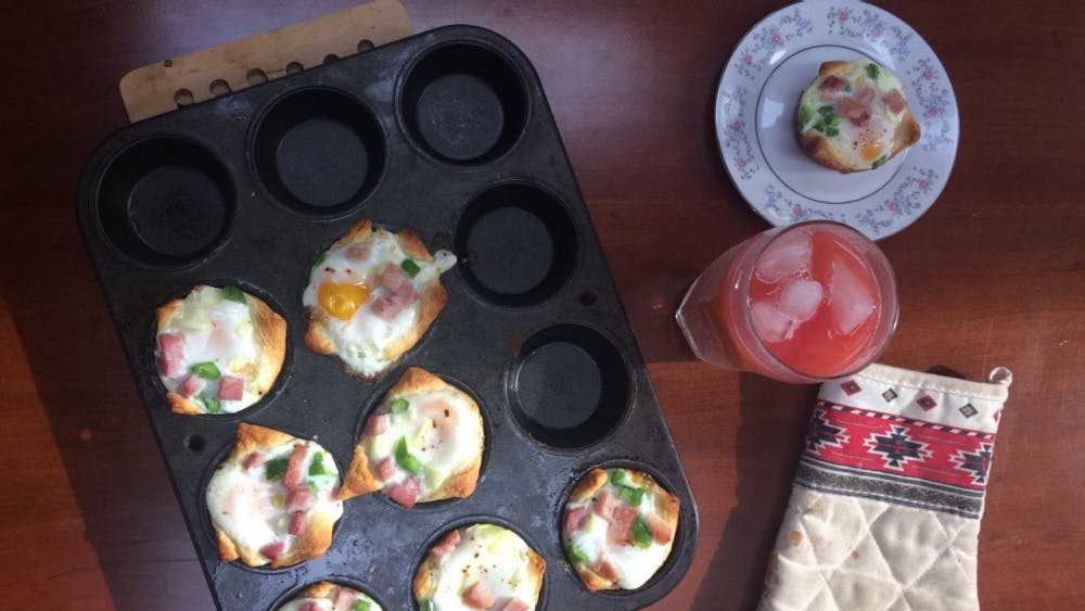 """These breakfast cups will """"wow"""" your roommates, housemates or friends, and they don't have to know that only minimal effort and less than a half hour of work went into them."""
