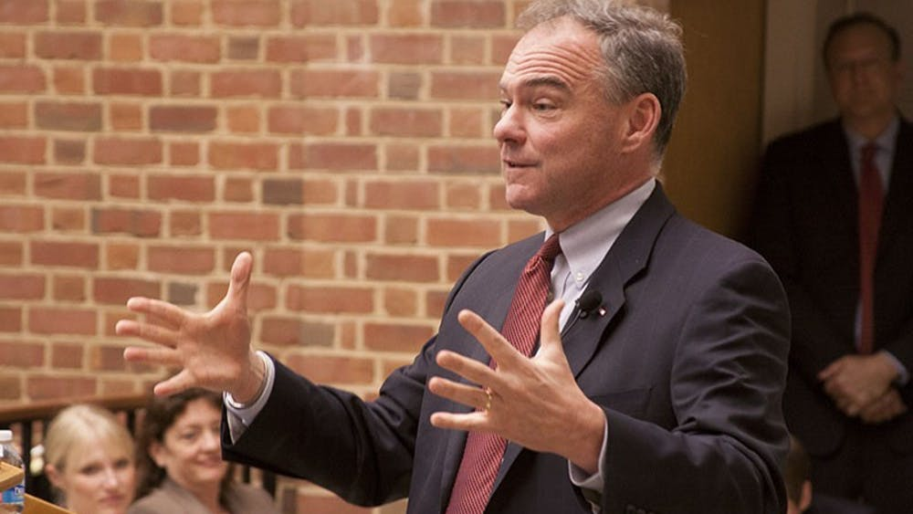 Sen. Tim Kaine is a former governor of Virginia who served a term from from 2006-10.