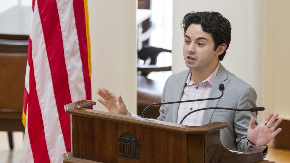 Third-year College student Alex Cintron was sworn in as Student Council president.