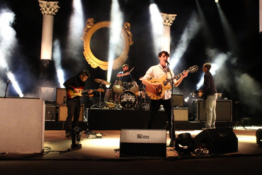 <p>Vampire Weekend performs at Red Rocks Amphitheatre in 2013. &nbsp;</p>