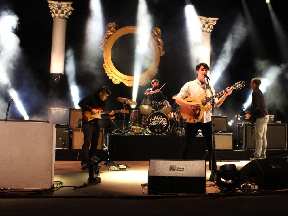 Vampire Weekend performs at Red Rocks Amphitheatre in 2013.