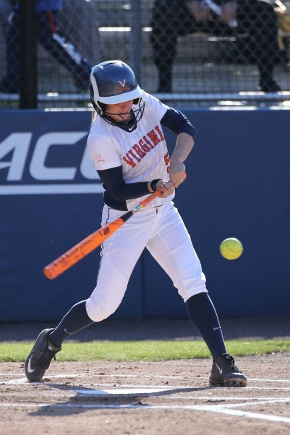 <p>Senior outfielder&nbsp;Allison Davis&nbsp;went two-for-three in Virginia's lone win of the weekend.&nbsp;</p>