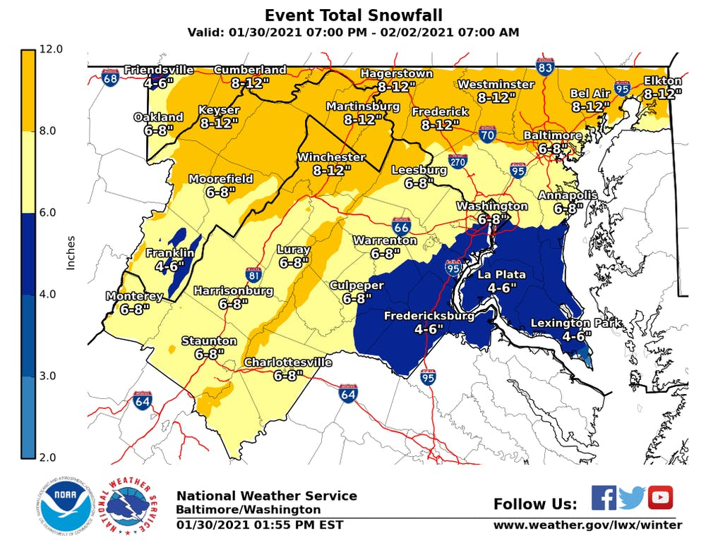 A Winter Storm Warning is issued if hazardous winter conditions are ongoing or imminent.