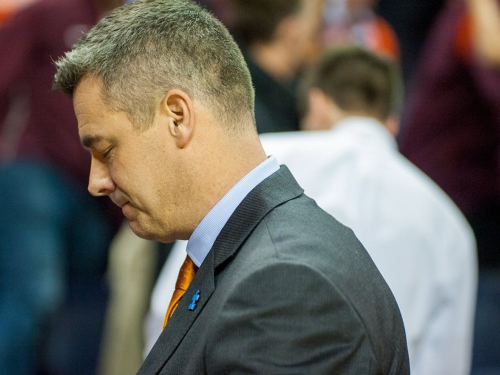 The game marred what was one of the most successful seasons in Virginia basketball history, which saw the team take home ACC regular season and tournament titles and ascend from unranked to No. 1 in the nation for five weeks. (Pictured: Coach Tony Bennett)