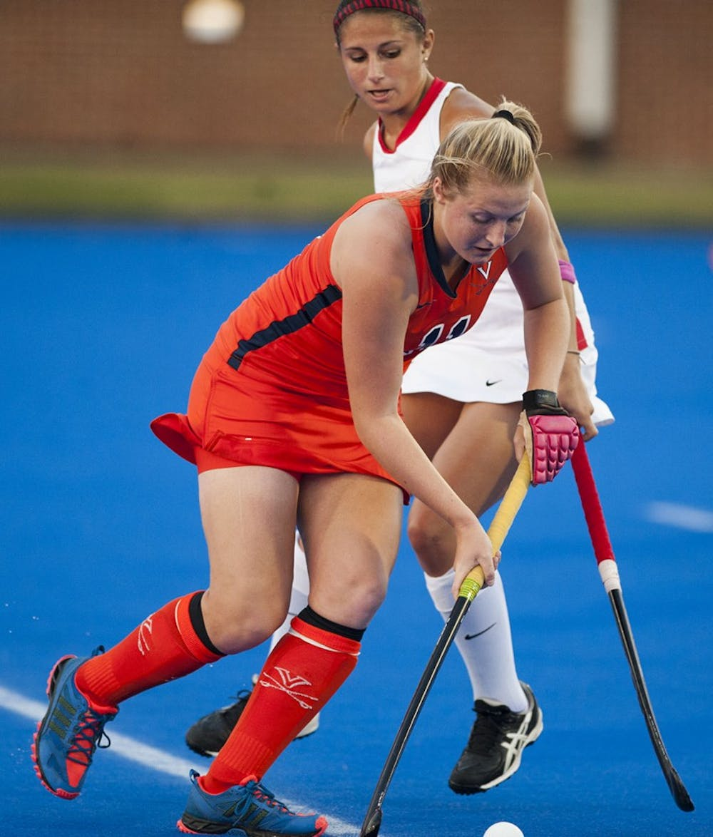 <p>Sophomore midfielder Lucy Hyams scored two goals and added an assist in Friday&#8217;s 9-0 win against William and Mary. She took seven shots Sunday, when the Cavaliers were shut out for the first time since 2011. </p>