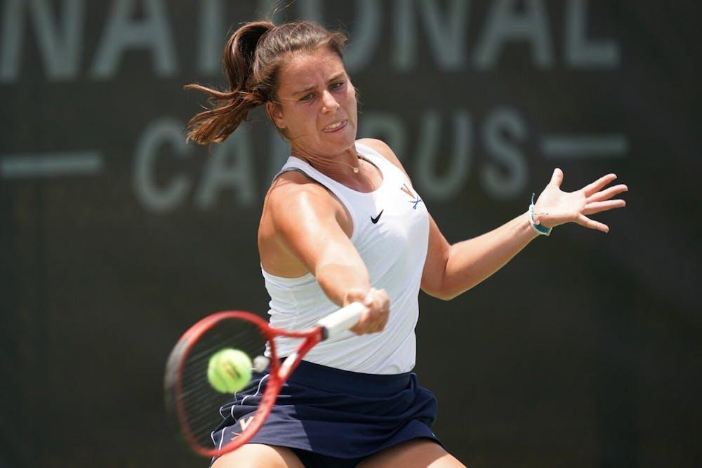 <p>Freshman Emma Navarro dropped just two sets en route to Virginia's third ever NCAA women's singles title.&nbsp;</p>