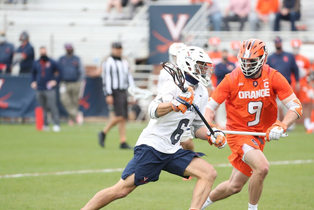 <p>In what may have been his final game at Klöckner Stadium, Virginia star graduate student midfielder Dox Aitken was held to just one goal by the Orange.&nbsp;</p>