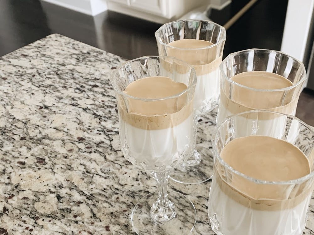 My measurements were just enough for one serving, although I ended up splitting the whipped coffee mixture into four smaller portions to share.